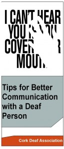 Communicating with a Deaf person