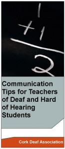 Communication Tips for Teachers of HOH students leaflet 3 fold