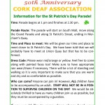 Information for Paddy's day